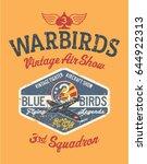 warbirds aircraft vintage air... | Shutterstock .eps vector #644922313