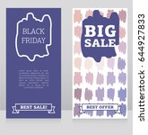 set of banners for black friday ... | Shutterstock .eps vector #644927833
