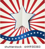 abstract image of the american... | Shutterstock .eps vector #644930383