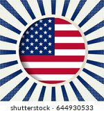 abstract image of the american... | Shutterstock .eps vector #644930533