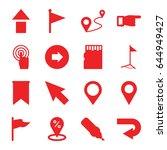 pointer icons set. set of 16... | Shutterstock .eps vector #644949427