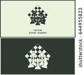 chess club sport emblems or... | Shutterstock .eps vector #644955823