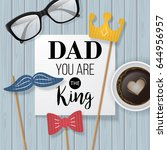 fathers day banner design with... | Shutterstock .eps vector #644956957