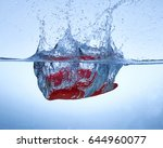vegetables dropped in water.... | Shutterstock . vector #644960077