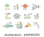 cartoon icons set of sketch... | Shutterstock .eps vector #644960293