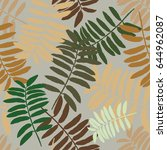 tropical seamless pattern with... | Shutterstock .eps vector #644962087