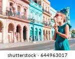 adorable little girl eating ice ...   Shutterstock . vector #644963017