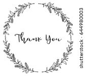 hand drawn leaf laurel wreath.... | Shutterstock .eps vector #644980003