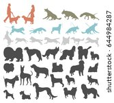 Dog Silhouettes Isolated On...