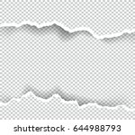 ripped paper transparent with... | Shutterstock .eps vector #644988793
