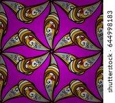 trendy seamless floral pattern. ... | Shutterstock .eps vector #644998183