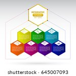 abstract seven hexagon business ... | Shutterstock .eps vector #645007093