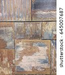 texture of wooden boards with... | Shutterstock . vector #645007687