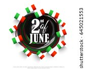 illustration of independence... | Shutterstock .eps vector #645021553