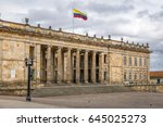 colombian national capitol and... | Shutterstock . vector #645025273