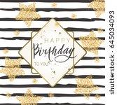 birthday lettering background... | Shutterstock .eps vector #645034093