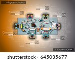 infograph background template... | Shutterstock .eps vector #645035677