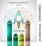 infograph template with... | Shutterstock .eps vector #645035803