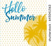 hello summer vector card | Shutterstock .eps vector #645041563