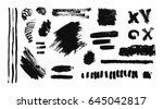 hand drawing  brush stroke. ... | Shutterstock .eps vector #645042817