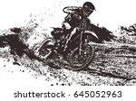 motocross rider   Shutterstock .eps vector #645052963