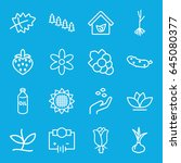 plant icons set. set of 16... | Shutterstock .eps vector #645080377