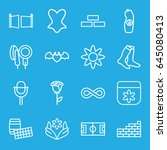 pattern icons set. set of 16... | Shutterstock .eps vector #645080413