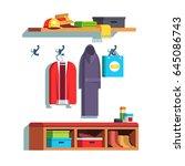 modern minimalist design home... | Shutterstock .eps vector #645086743