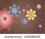 colorful bright flowers on a... | Shutterstock .eps vector #645088183