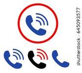 phone call flat vector... | Shutterstock .eps vector #645093577