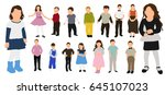 collection of children | Shutterstock . vector #645107023