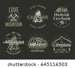 set of mountain and scouting... | Shutterstock . vector #645116503