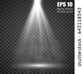 vector isolated spotlight.... | Shutterstock .eps vector #645118543