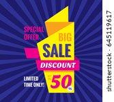 big sale discount up to 50   ... | Shutterstock .eps vector #645119617