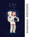 cool flat vector illustration... | Shutterstock .eps vector #645122653