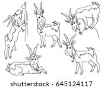 vector black and white cartoon... | Shutterstock .eps vector #645124117