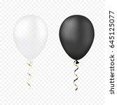 vector white and black balloons ... | Shutterstock .eps vector #645125077