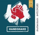 handshake icon vector flat... | Shutterstock .eps vector #645154183