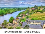 Small photo of View of Chinon from the castle - France, the Vienne Valley