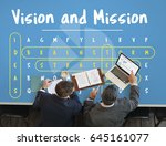 business vision and mission... | Shutterstock . vector #645161077