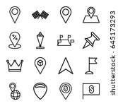location icons set. set of 16... | Shutterstock .eps vector #645173293