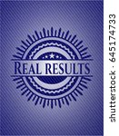 real results with jean texture | Shutterstock .eps vector #645174733