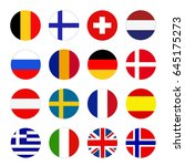 vector illustration of european ... | Shutterstock .eps vector #645175273