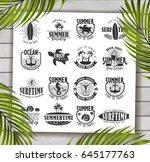 summer typography design... | Shutterstock .eps vector #645177763