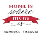 happy mothers day greeting... | Shutterstock .eps vector #645182953