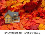 your home in the fall season ...   Shutterstock . vector #645194617