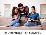 students preparing for... | Shutterstock . vector #645202963