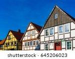 residential buildings in old... | Shutterstock . vector #645206023