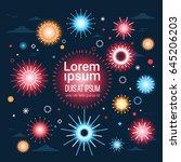 festive colorful fireworks... | Shutterstock .eps vector #645206203