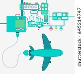 electric supply of a plane.... | Shutterstock .eps vector #645214747